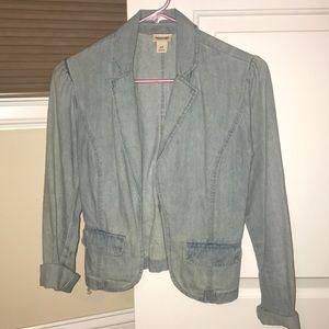 Casual denim blazer size small